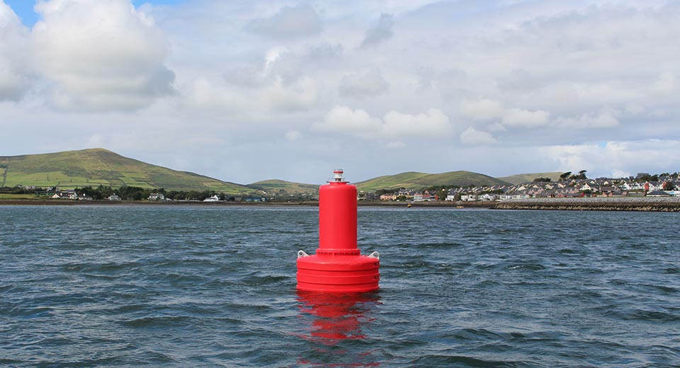 Red JFC Marine G1500 Gannet Navigation Buoy in use