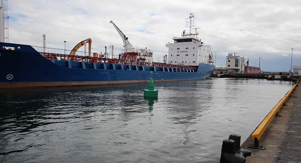 Green FC Marine G1800 Gannet Navigation Buoy in use