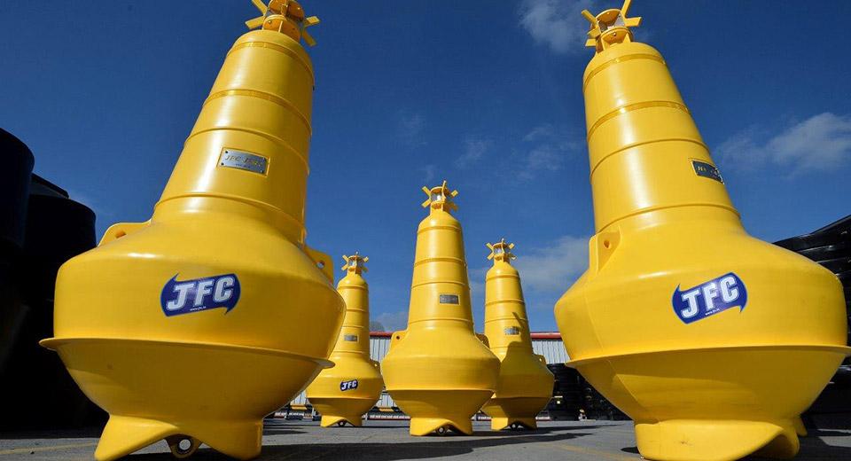 Yellow JFC Marine Nav02 navigational buoys