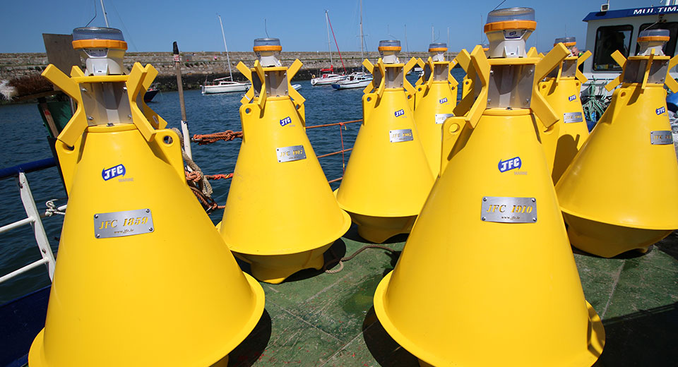 Yellow JFC Marine Nav03 navigational buoys