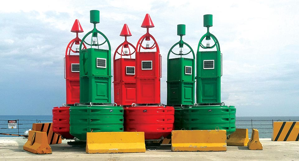 Red and green JFC_MARINE_Seagull Navigation Buoys 2600