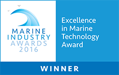Excellence in marine technology award winner banner