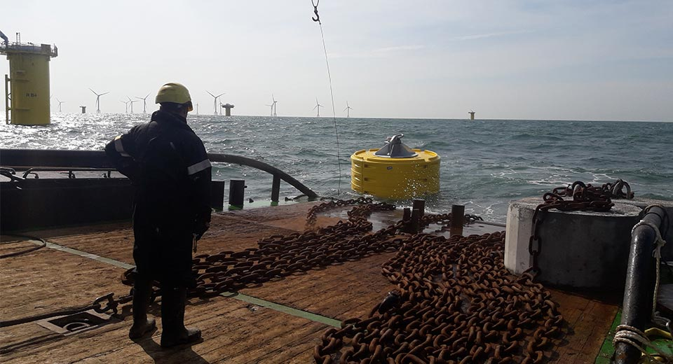 JFC Marine Mooring Buoy in use