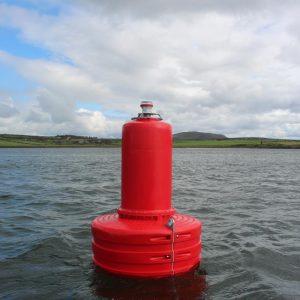 Red JFC Marine G1500 Gannet Navigation Buoy in use