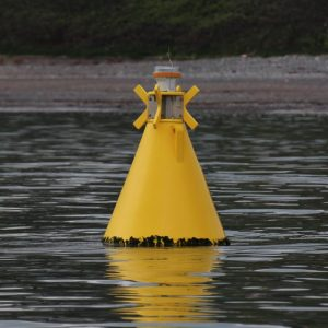 Yellow JFC Marine NAV03 Cone in use