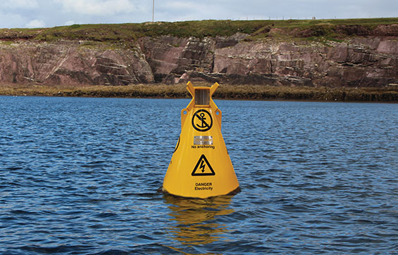 Special Mark Navigation Buoy in use